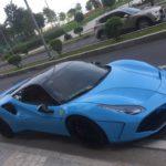 Siêu xe Ferrari xanh độ khủng ở Sài Gòn