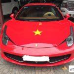 Đại gia Việt đam mê bóng đá dùng siêu xe cổ vũ hết mình