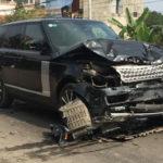 Range rover đâm vào người phụ nữ ở Thái Nguyên