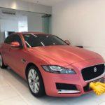 Xe sang Jaguar XF màu hồng siêu đẹp độc nhất Việt Nam