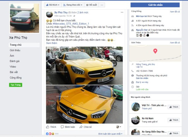 siêu xe Mercedes Phú Thọ