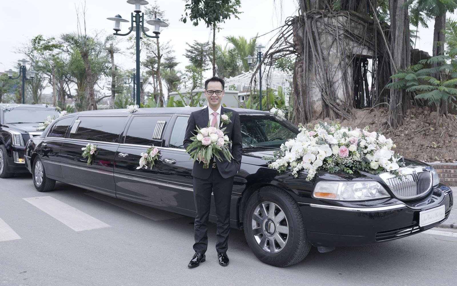 Chủ rể đi đón dâu bằng xe khủng