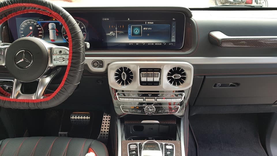 Nội thất Mercedes AMG G63 hàng khủng ở Hòa Bình