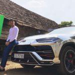 Video đại gia Minh nhựa lái Lamborghini URUS mạ chrome đón tết