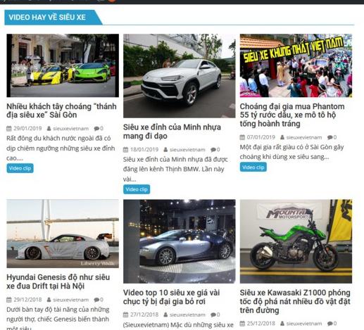 Sieuxevietnam.com chuyên trang tin tức hấp dẫn nhất