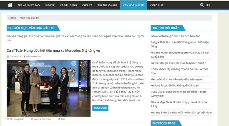 Sieuxevietnam.com có nhiều nội dung hay và hấp dẫn bậc nhất
