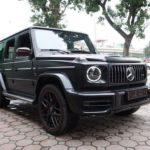 Xe SUV khủng Mercedes AMG G63 đen mờ về Việt Nam