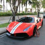 Hàng hiếm Ferrari 488 GTB 15 tỷ bị khóa bánh ở Sài Gòn
