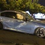 Siêu xe BMW M3 cũ của Cường đô la gặp tai nạn
