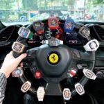 Thiếu gia Trung Võ khoe đồng hồ trăm tỷ trên siêu xe Ferrari