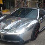 Siêu xe Ferrari Chrome và độ mâm tuyệt đẹp lên Đà Lạt chơi