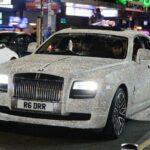 Rolls royce Ghost đính pha lê giá 50 tỷ làm xe cho thuê
