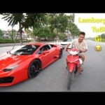 Video Dùng siêu xe Lamborghini 13 tỷ đua với Sirius ở Việt Nam