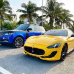 Range rover, Maserati đổi màu sặc sỡ ở Hà Nội