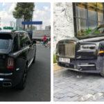 Một Rolls royce Cullinan mang hai biển số ở Hà Nội ?