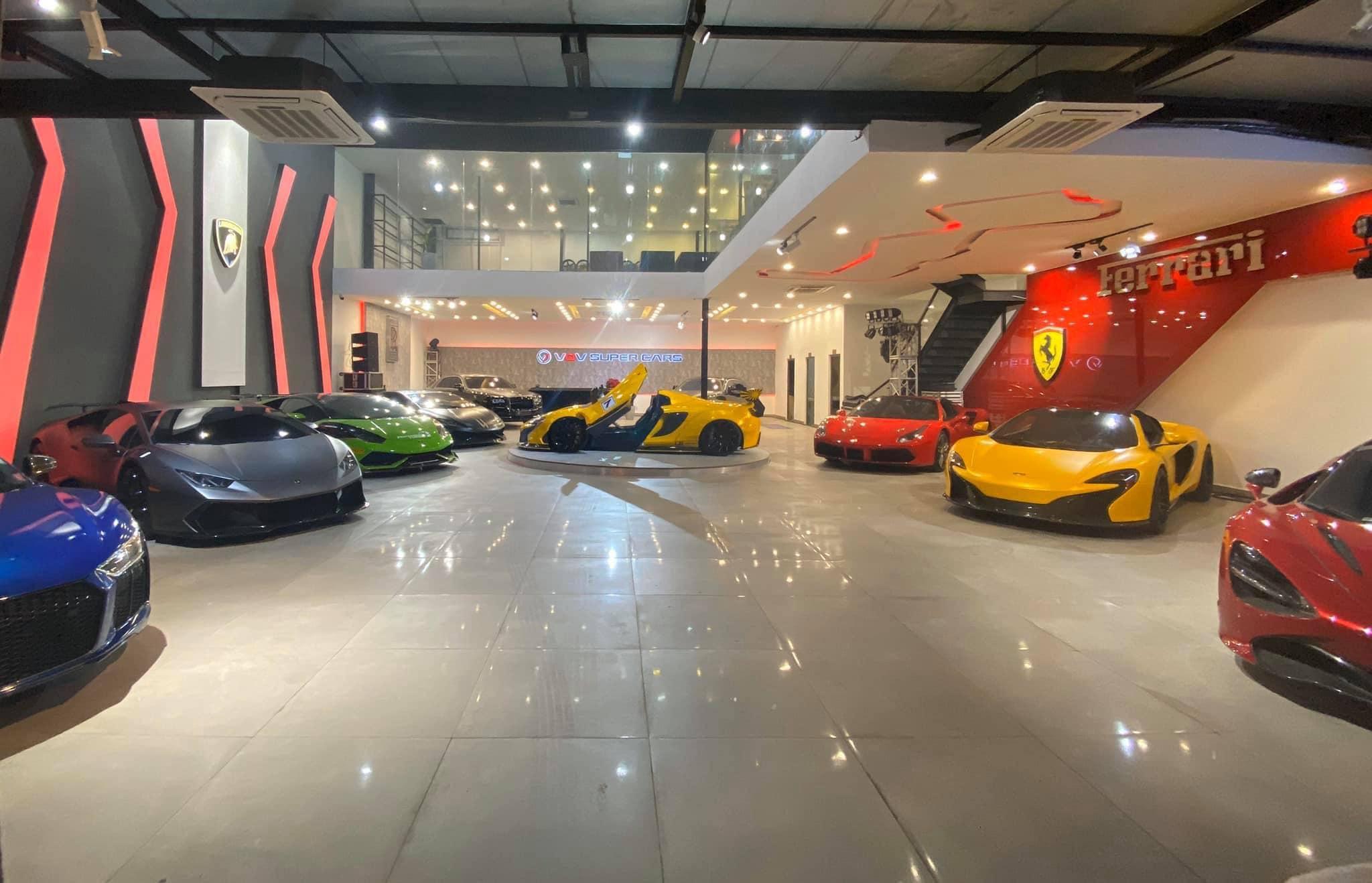 Showroom trưng bày siêu xe khủng độc đáo